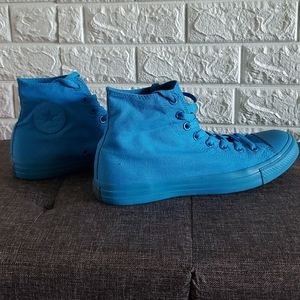Converse Shoes - Chuck Taylor Blue Monochrome high tops